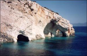 Blue caves on Zante
